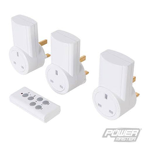 PowerMaster 550077 Wireless Remote Control Power Socket 240V 3pk UK 13A 240V