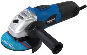 Silverline Tools 571295 DIY 650W Angle Grinder 115mm, 650 W, Blue