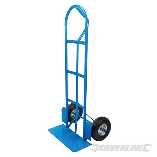 Silverline 633752 High-Back P-Handle Steel Sack Truck 250kg Load Capacity