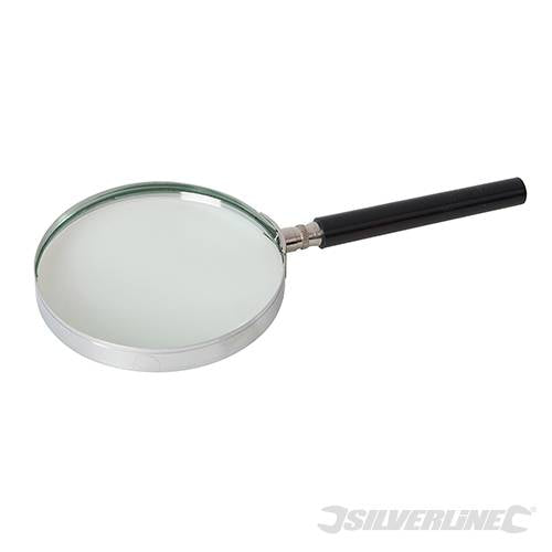 Silverline 633945 3x Magnifying Glass 100mm Diameter Lens