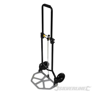Silverline 633948 Folding Steel Hand Truck 45kg Load Capacity
