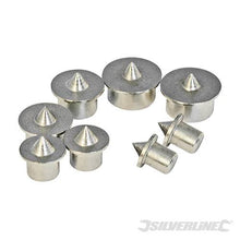 Silverline 733252 Dowel Centre Point, 6-12 mm - Set of 8