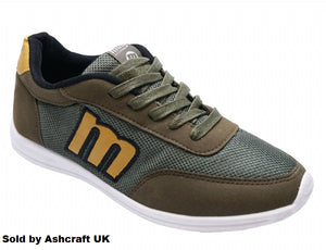 Khaki Lace-Up Casual Sports Trainers Pumps Shoes Sizes 8