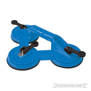 Silverline 868582 Triple Suction Pad, 100 kg
