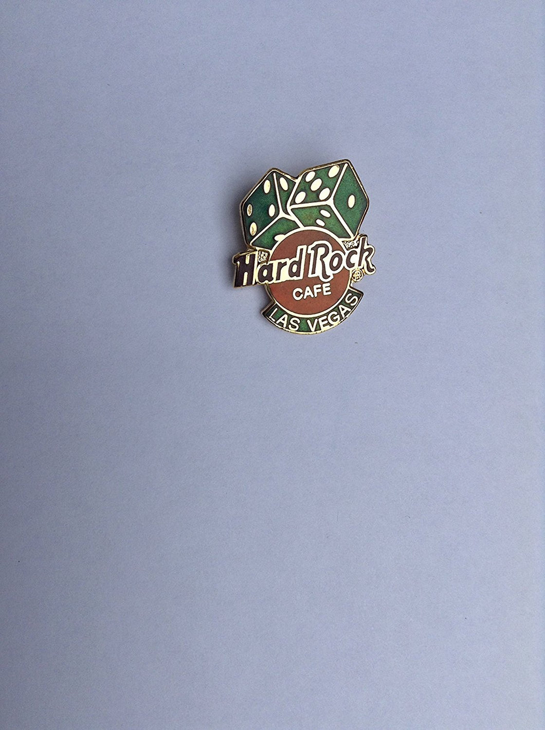 LAS VEGAS PIN WITH GREEN DICE HARD ROCK CAFÉ PIN B-11-4550 Mint condition collectable