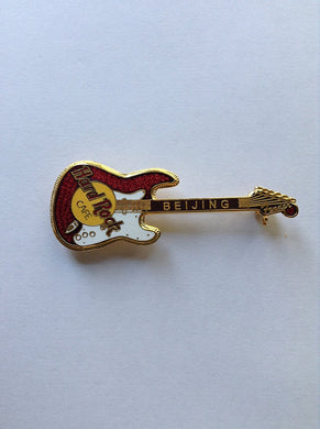 Beijing B 2 -1057 Grid 2 Lines Gold Appearance Hard Rock Cafe Pin Vintage Collectible