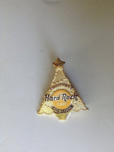 KOWLOON GOLD CHRISTMAS TREE HARD ROCK CAFÉ PIN B9-347 new mint collectables Hard Rock Café