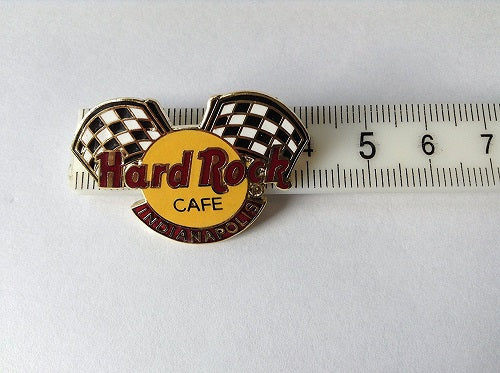 INDIANAPOLIS FLAG LOGO HARD ROCK CAFÉ Vintage,Collectible PIN B3-52-47 very good condition