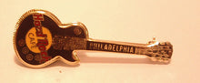 PHILADELPHIA Black Les Paul guitar Logo  Hard Rock cafe pin B 17-92 Collectible-Very Good  Hard Rock