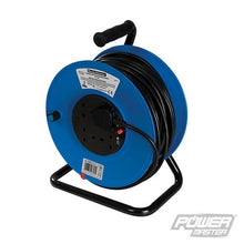 PowerMaster 303754 Cable Reel 240V Freestanding 13A 25m 2 Socket