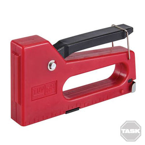 Task 944989 4 - 8 mm Staple Gun with 100 Staples - Red