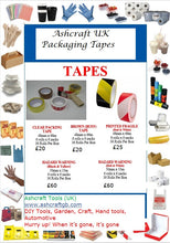 Ashcraft UK Packaging Tapes Wholesale Clear,Brown,Fragile and Hazard