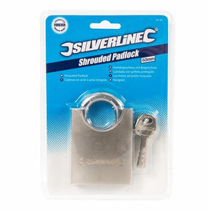 Silverline 801285 Closed Shackle Steel Padlock 60mm