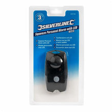 Silverline 689186 Squeeze Personal Alarm with LED 120dB