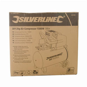 Silverline DIY 2HP Air Compressor 24 Litre 1500W 240V