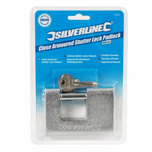 Silverline 792082 Steel Container Padlock / Shutter Lock 90mm