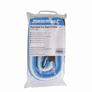 Silverline Tools 425492 2 Ton Elasticated Tow Rope, Blue