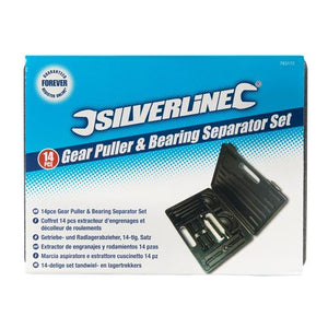 Silverline 783172 Gear Puller and Bearing Separator Kit with - Pack of 14