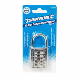 Silverline 960640 10-Digit Combination Padlock 38mm