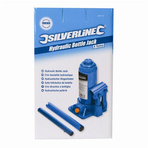 Silverline 245113 Hydraulic Bottle Jacks, 4 t