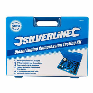 Silverline 196602 Diesel Engine Compression Testing Kit - 16 Pieces
