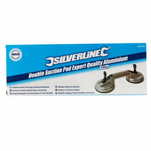 Silverline 456945 Double Suction Pad Expert Quality Aluminium, 100 kg