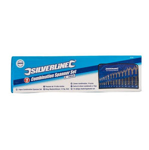 Silverline SP50 Combination Spanner Set, 8-24 mm - 14 Pieces