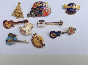 Hard Rock Cafe PINS Vintage Football Badges Feed your passion