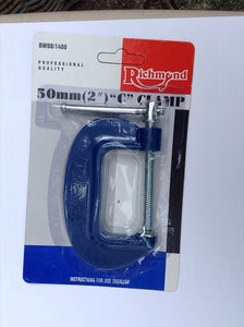 X2 Wholesale Job Lot 50MM 2'' g Clamp Clearance price £5.00 light weight 100G