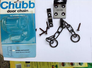 X1 Chubb door chain for wooden doors simple and secure old stock job lot cheap