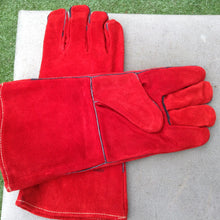 X 5 Pairs red gauntlet keep safe welding gloves high quality size 11