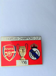 Arsenal vs Real Madrid Champions League 2005/2006 collectors pin badge