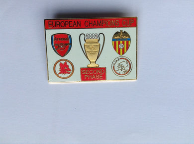 Arsenal second phase 02-03 European Champions Cup Collectors pin badge