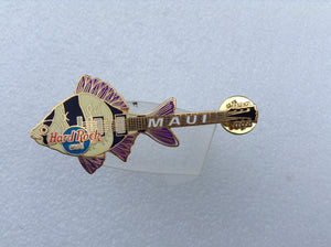 Maui Fish Guitar - yellow Fish with black Stripes and.. (# 5320B18) HRC PIN