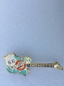CHICAGO B-3-40306 Gold Appearance 2 Lines Logo - Hard Rock Map of western US