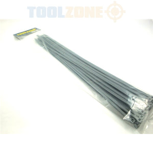 "Toolzone 30Pc 15"" Silver Cable Ties £2.99"