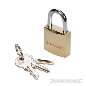 SILVERLINE MSS02 32MM BRASS PADLOCK