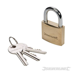 Silverline MSS03 Solid Brass Padlock 40mm