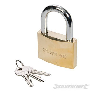 Silverline Mss 05 Brass Padlock 60mm