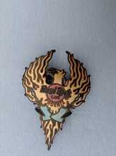 Phoenix Large Phoenix Firebird Holding Two Guitars (# 17127B 9) HRC PIN NEW