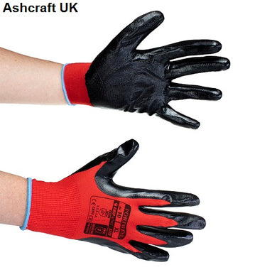 X10 Pairs Portwest Nitrile Grip Red and Black Gloves A310R8R Size: Size 9 (Large) £1 a pair cheap