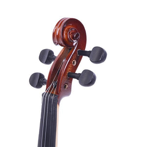 Glarry GV201 4/4 Classic Solid Wood Violin Case Bow Violin Strings Rosin Shoulder Rest Electronic Tuner