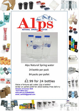 Alps Natural Spring Water 13p a bottle