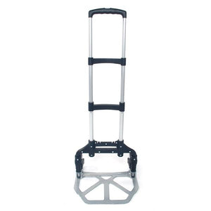 Portable Folding Collapsible Aluminum Cart Dolly Push Truck Trolley Black