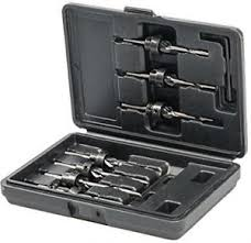 Drill & Countersink Set 7pce 3 - 6mm
