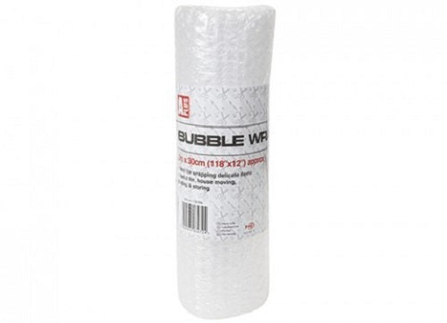 X 2 ROLLs OF BUBBLE WRAP 3m x 30cm Roll