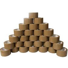 X 36 Brown Buff Tape Parcel Packing Packaging Cellotape Box Sealing 48MM x 66M Rolls