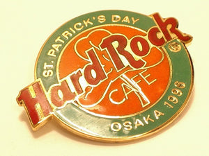Osaka 1996 ST PATRICK'S DAYHARD ROCK CAFE PIN  B5-85 COLLECTOR'S PIN collectable