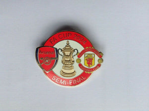 ARSENAL v MANCHESTER UNITED 2004 - FA CUP SEMI FINAL Collectors pin badge