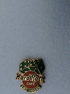 LAS VEGAS PIN WITH GREEN DICE HARD ROCK CAFÉ PIN B-10 Mint condition collectable